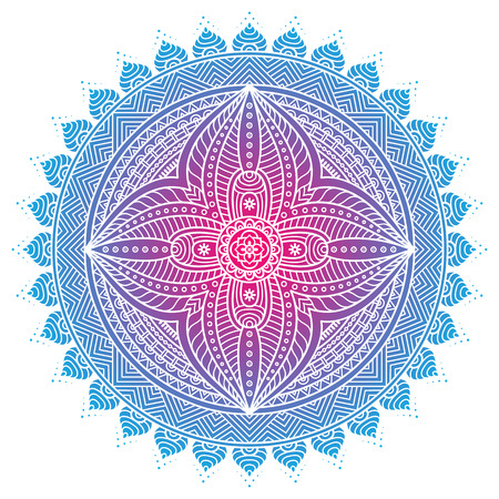 Ornament beautiful  card with mandala. Geometric circle element made in vector 版權商用圖片 - 41509122
