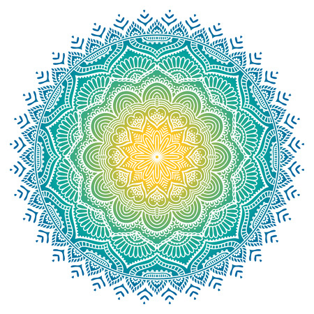 islamic art: Ornament beautiful  card with mandala. Geometric circle element made in vector