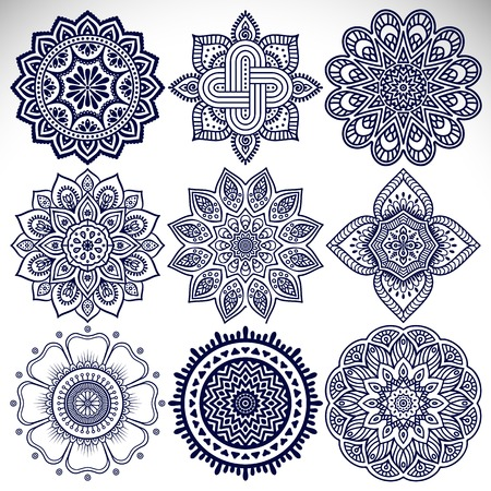 wedding decoration: Ornament beautiful  card with mandala. Geometric circle element made in vector