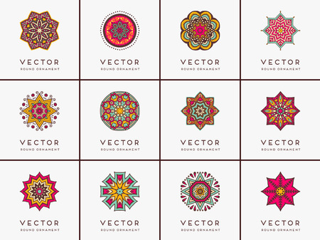 decor: Ornament beautiful  card with mandala. Geometric circle element made in vector
