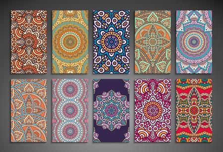 Visitenkarte. Weinlese-dekorative Elemente. Hand gezeichnet Hintergrund Standard-Bild - 41450230