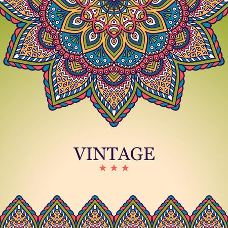 Visitenkarte. Weinlese-dekorative Elemente. Hand gezeichnet Hintergrund Standard-Bild - 41449779