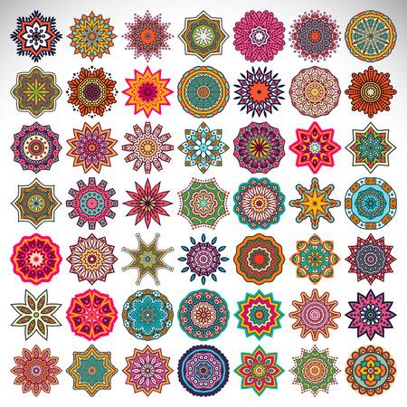 Vector Mandala. Round ornament in ethnic style. Hand draw 版權商用圖片 - 41542546