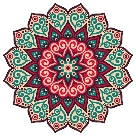 Wektor Mandala. Okrągły ornament w stylu etnicznym. Rysowania
