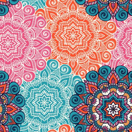 elementos: Étnico floral patrón transparente. Ornamentales patrón abstracto