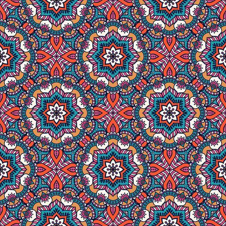 Etnische bloemen naadloos patroon. Abstract sierpatroon