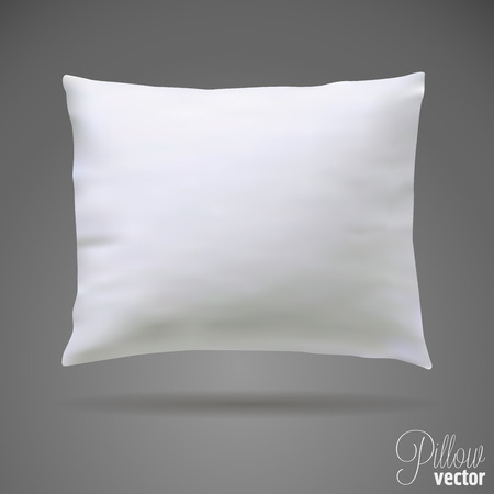 bolster: Isolated white pillow. Mock up vector template