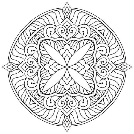 decorative background: Mandala. Round Ornament Pattern. Vintage decorative elements. Hand drawn background