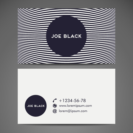 business card layout: Background. Vector abstract creative business card template Illustration