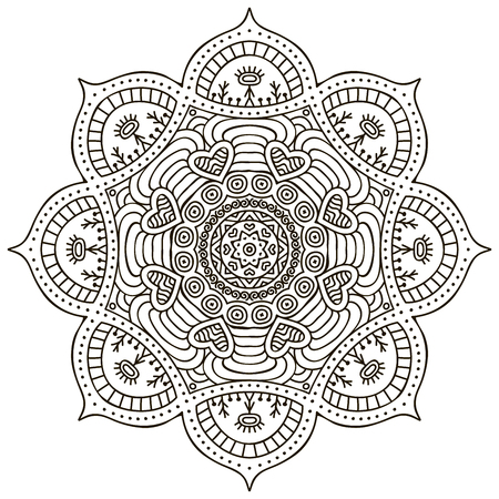 vintage ornament: Mandala. Round Ornament Pattern. Vintage decorative elements. Hand drawn background