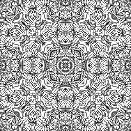 mandala: Abstract vector tribal ethnic background seamless pattern