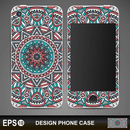 model motive: Phone case design. Vintage decorative elements. Hand drawn background Illustration