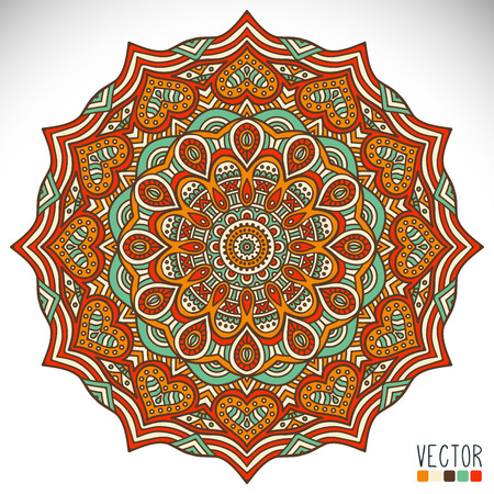 motif floral: Mandala. Round Ornament Pattern. Vintage decorative elements. Hand drawn background