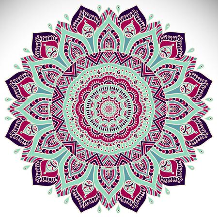model motive: Mandala background. Vintage decorative elements. Hand drawn background