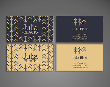 business card template: Business card vector background in ethnic style