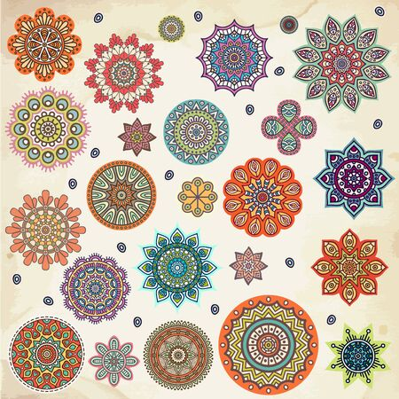 mandala tattoo: Mandala. Round Ornament Pattern. Vintage decorative elements. Hand drawn background