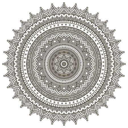 Mandala. Round Ornament Pattern. Vintage decorative elements. Hand drawn background