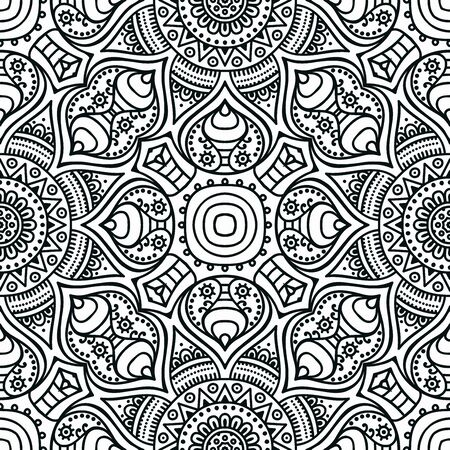 ornamental pattern: Ethnic floral seamless pattern. Abstract ornamental pattern Illustration