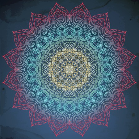 model motive: Mandala. Round Ornament Pattern. Vintage decorative elements. Hand drawn background