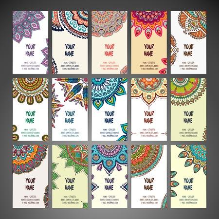 Visitenkarte. Weinlese-dekorative Elemente. Hand gezeichnet Hintergrund Standard-Bild - 42204300