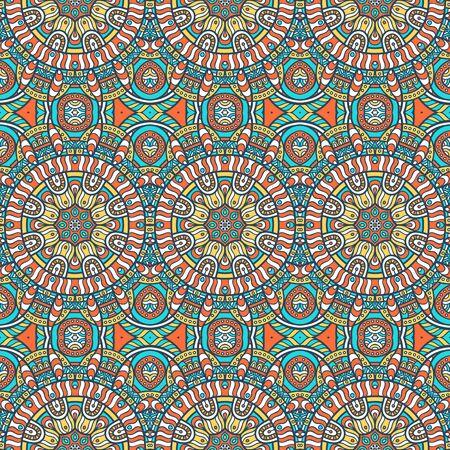 Ethnic floral seamless pattern. Abstract ornamental pattern Çizim
