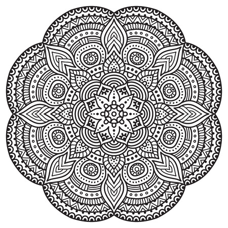 mandala background: Vector Mandala. Round ornament in ethnic style. Hand draw
