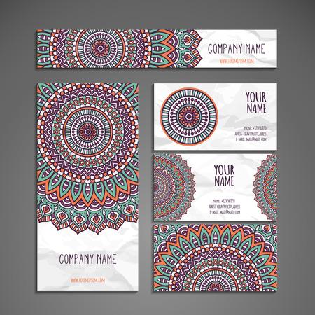 Visitenkarte. Weinlese-dekorative Elemente. Hand gezeichnet Hintergrund Illustration