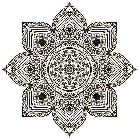 Ornament beautiful  card with mandala. Geometric circle element made in vector Imagens - 42206353
