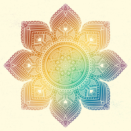 Ornament beautiful  card with mandala. Geometric circle element made in vector 版權商用圖片 - 42206365