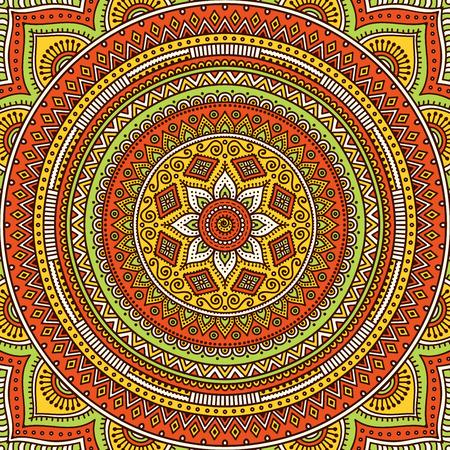 Ornament beautiful  card with mandala. Geometric circle element made in vector 版權商用圖片 - 42206388