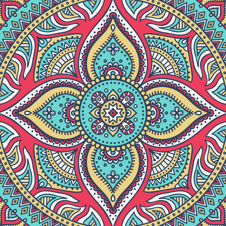 Ornament beautiful  card with mandala. Geometric circle element made in vector 版權商用圖片 - 42206387