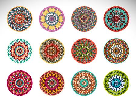 Vector Mandala. Round ornament in ethnic style. Hand draw 版權商用圖片 - 42370700