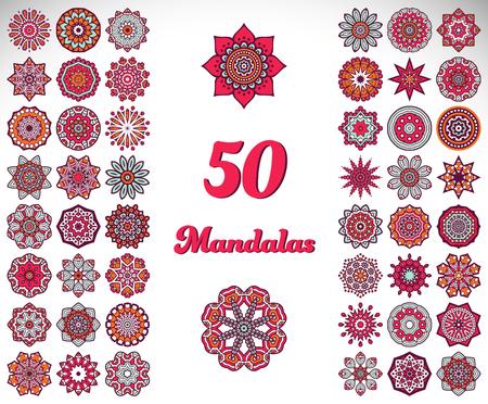 Ornament beautiful card with mandala. Geometric circle element 版權商用圖片 - 43907443