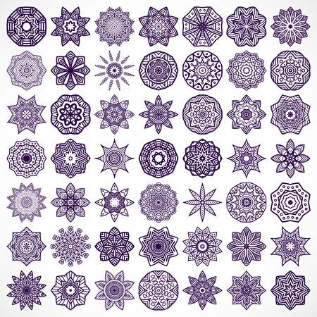 Ornament beautiful card with mandala. Geometric circle element