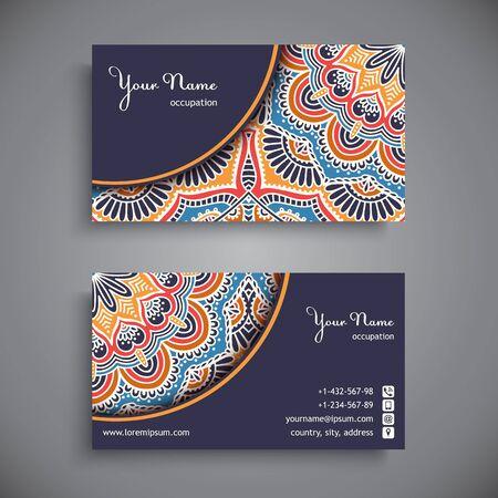 Visitenkarte. Weinlese-dekorative Elemente. Hand gezeichnet Hintergrund Standard-Bild - 43907363
