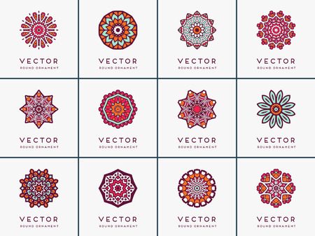 kaleidoscope: Ornament beautiful card with mandala. Geometric circle element