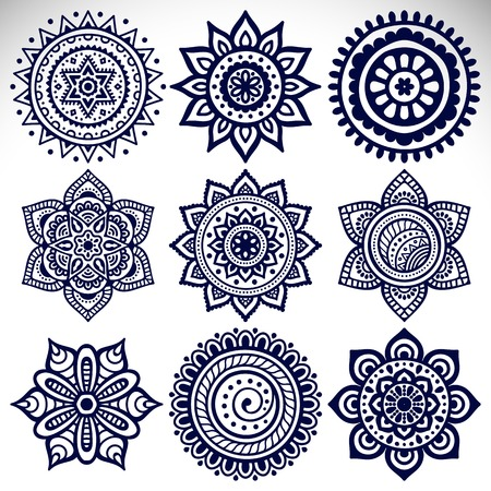Ornament mooie kaart met mandala. Geometrische cirkel element