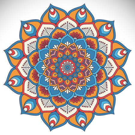 Ornament beautiful  card with mandala. Geometric circle element made in vector Imagens - 43921040