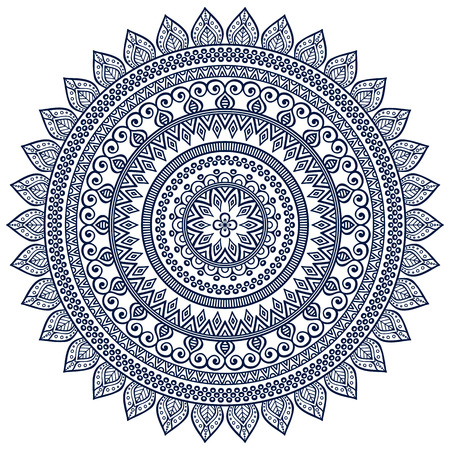 flower bright: Ornament beautiful  card with mandala. Geometric circle element made in vector