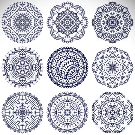 mandala: Ornament beautiful  card with mandala. Geometric circle element made in vector