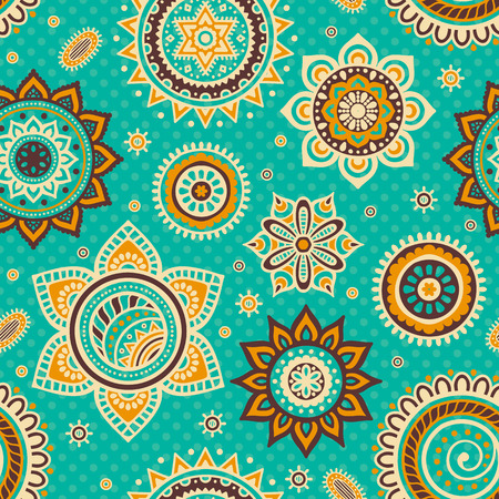 islam: Ethnic floral seamless pattern. Abstract ornamental pattern Illustration