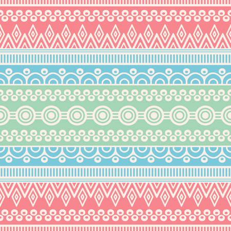flower decoration: Ethnic floral seamless pattern. Abstract ornamental pattern Illustration