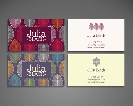 motif pattern: Business card. Vintage decorative elements