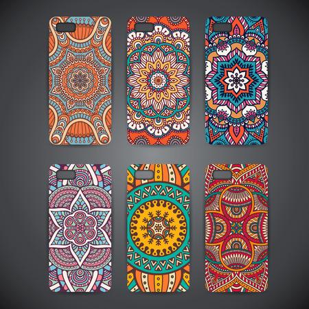 cases: Phone case, colorful floral pattern Illustration