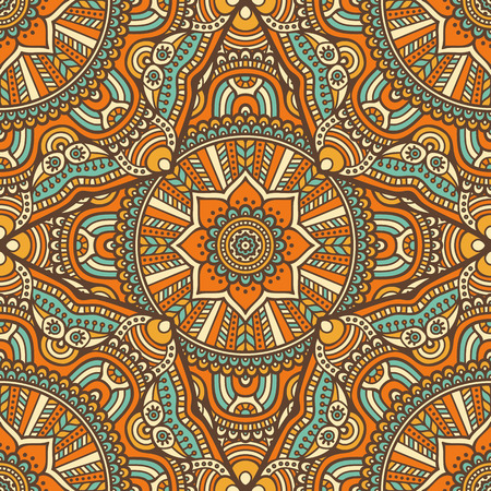 ottoman fabric: Ethnic floral seamless pattern. Abstract ornamental pattern Illustration