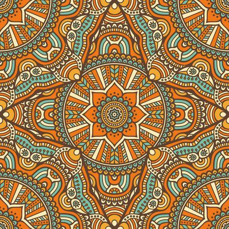 Ethnic motivo floreale senza soluzione di continuità. Abstract pattern ornamentale Archivio Fotografico - 44200810