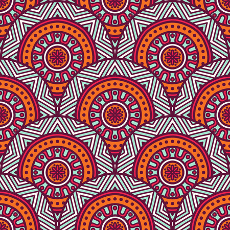indian pattern: Ethnic floral seamless pattern. Abstract ornamental pattern Illustration