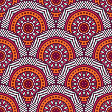 motif pattern: Ethnic floral seamless pattern. Abstract ornamental pattern Illustration