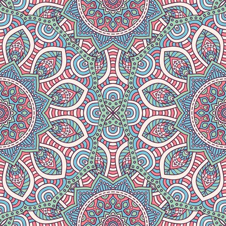 abstract floral: Ethnic floral seamless pattern. Abstract ornamental pattern Illustration