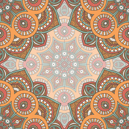 lace background: Ethnic floral seamless pattern. Abstract ornamental pattern Illustration